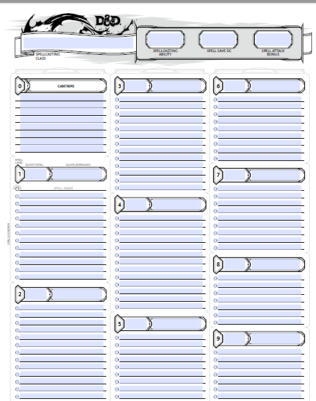 picture about Dungeons and Dragons Printable Character Sheet called Dnd 5e Personality Sheet Fillable PDF No cost Obtain - Dungeons